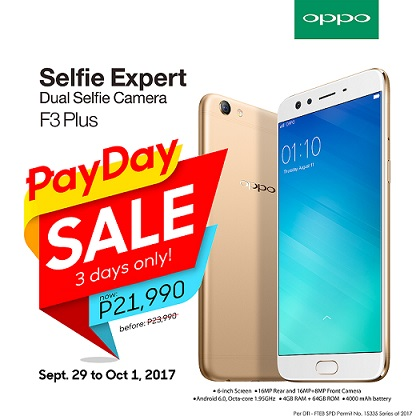 OPPO F3 Plus on SALE